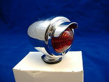 CHROME BICYCLE REAR RED TAIL LIGHT WITH VISOR BIKE BEACH CRUISER LOW RIDER