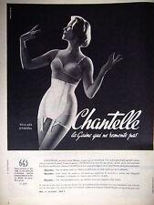 PUBLICITÉ DE PRESSE 1958 CHANTELLE LA GAINE MODÈLE 643 - ADVERTISING