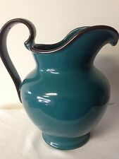 Extra Large Decorative Pitcher Vase Teal / Brown Trim  SIGNATURE HOME COLLECTION