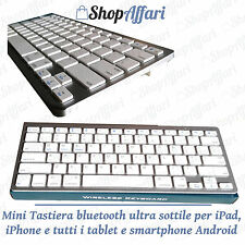 TASTIERA BLUETOOTH WIRELESS UNIVERSALE WIFI KEYBOARD PER TABLET windows android.