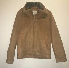 RDG Milano Reporter Jacket Faux Suede Size S Brown NEW