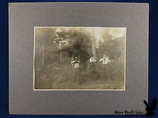 Antique Photo 3 Shooters Hunters In Woods Winchester Rifle .22 Rifle Shotgun