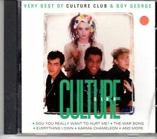 (DX147) The Best of Culture Club & Boy George, Culture - 1997 CD