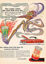 1950s BIG Vintage BORIS ARTZYBASHEFF Demon Chemistry Lab Car Auto Art Print AD d
