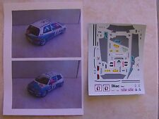 RENAULT CLIO WILLIAMS TOUR DE CORSE 1995 MARIE CECILE OUDRY NO 16S DECALS