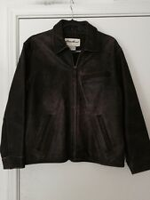 Eddie Bauer Distressed Brown Leather Motorcycle Jacket   Women's Small   $279