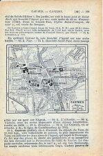 Castres 1923 pt plan ville orig. + guide (2 p.)