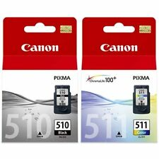 2 x Genuine Canon PG-510 CL-511 Ink Cartridges PG510 + CL511 MP250 MP495 MX360
