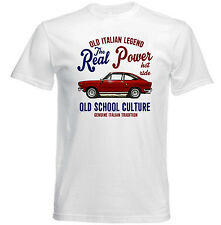 FIAT 124 COUPE REAL POWER - NEW COTTON T-SHIRT