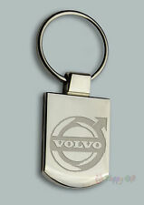 Personalised VOLVO Design keyring BOXED engraved Free - Metal Key ring