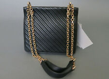*Max Mara Black Lamb Leather Shoulder Bag Gold Hardware MSRP$ 795 Made in Italy