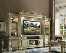 Acme  Vendome 91310 Gold Entertainment Centre Set Traditional