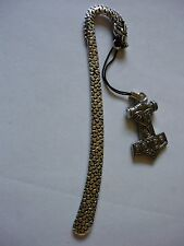 w47 Thor's Hammer Fine English Pewter On A DRAGON Bookmark