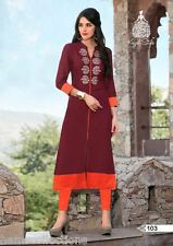 Attractive Heavy Cotton Embroidered Kurti, Kurta, Tunic in XL Size