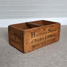 Cajas de almacenaje de colegio Hogwarts Cofres Cajas Madera Estilo Vintage De Harry Potter