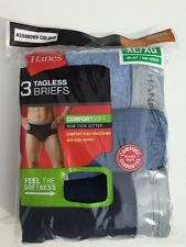 BRIEFS HANES TAGLESS 3 PAIRS EXTRA LARGE COMFORT SOFT 40-42 Mid Rise