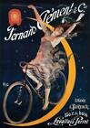 """VINTAGE Bicycle Advertising Poster A2 CANVAS PRINT Art 18""""X 24"""""""
