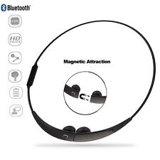 Sport Bluetooth Earphone Magnetic Attraction WirelessHeadphone Necklace Headset