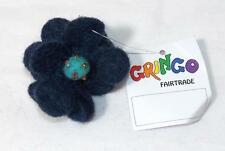 MULTI COLOURED FAIR TRADE GRINGO FELT FLOWER HIPPY BOHO BOBBLE / SCRUNCHIE NEPAL