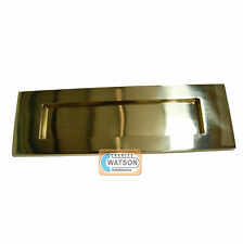 """CARLISLE BRASS M36/S Polished Brass 10""""x3"""" Victorian Door Letter Plate"""