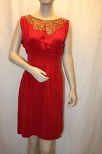 NEW BCBG MAX AZRIA NEW RED SEQUINS EMBELLISHED COCKTAIL BID6E689 DRESS SIZE 0