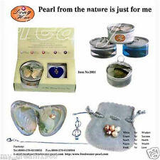 A Set Box Love Wish Pearl Necklace Set Oyster Drop Pendant Xmas Gift