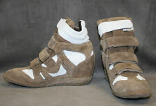 NEW STEVEN STEVE MADDEN TAN BELIEVER WEDGE SNEAKER SZ 7