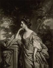 1769, impresionante Grabado, Lady puentes, hija casada hermano de Jane Austen