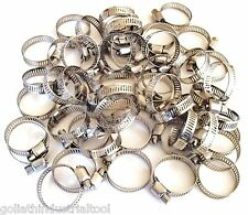 """50 GOLIATH INDUSTRIAL STAINLESS STEEL HOSE CLAMPS 3/4""""- 1-1/8"""" SSHC118 19MM-29MM"""