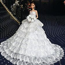 WayIn? Gorgeous Handmade Wedding Dress Made to Fit the Barbie Doll White