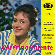 CATERINA VALENTE LUNE DE MIEL FRENCH ORIG EP JO MOUTET / JO BOYER