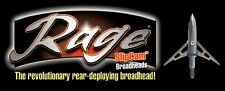 Rage Broadheads Decal / Sticker . Bow Arrow  compound deer elk crossbow archery