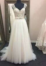 Mori Lee  Wedding Gown Style 5476 Size 8 NWT Blu Collection