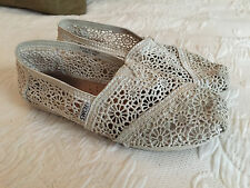 TOMS Pearl Morocco Crochet Lace Shoes Women's Size 6