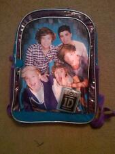 "NWT I LOVE 1D ONE DIRECTION BOOK BAG BACK PACK 16"" FANCY"