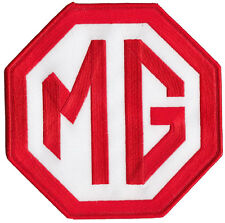 """Large MG red white 6""""  embroidered logo patch"""
