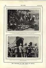 1900 batería de montaña en acción Furgón hospital de campaña tienda de la operación