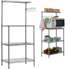 Kitchen Appliance Cart And Islands Microwave With Hutch Storage Utility Rack