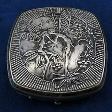MAXFIELD PARRISH Kissing Fairies DJER-KISS POWDER COMPACT +PERFUME Spring Loaded