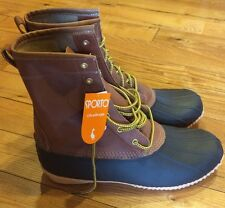 Mens Sporto Russell Duck Boots Water Resistant Leather Upper Rubber Sole Sz 10