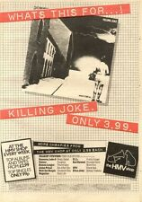 20/6/81PN39 POSTER ADVERT 15X11 KILLING JOKE : WHATS THIS FOR