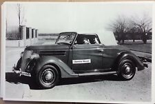 "12 By 18"" Black & White PICTURE 1936 Ford Cabriolet with top up"