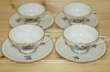"Rosenthal Winifred  Set of (4) Demitasse Cups, 1 3/4"" and (4) 4 3/4"" Saucers"