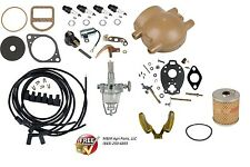 Complete IgnitionTune up kit & Carburetor kit Ford 9N 2N 8N Front Mount Distrib.