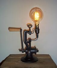 UpCycled Antique/Vintage Cast Iron Mincer Industrial/Steampunk Desk/Table Lamp