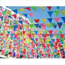 10M Happy Birthday Rainbow Flags Banner/Bunting Dessert Party Table Decoration