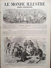 LE MONDE ILLUSTRE 1860 N 144 ESPAGNOLS SOIGNANT UN PRISONNIER MAURE BLESSE