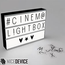 Brand New Cinema Style LED Lightbox 85 changeable letters and symbols