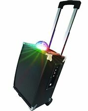 On The Go Party Speaker with Disco Ball Karaoke Rechargeable AR1009BK