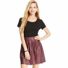B6 NWT Stoosh Juniors' Pleated Faux Leather Skater Skirt XL